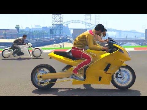 THE CRAZIEST BIKE RACE! - GTA 5 Funny Moments #708