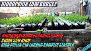 Hidroponik Low Budget dari Barang bekas // Hidroponik diatas Kolam lele