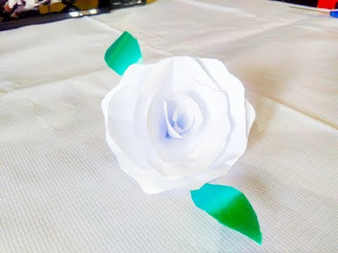 DIY: WHITE ROSE MADE BY PAPER...