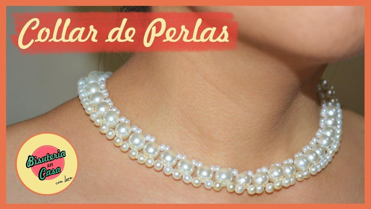 Boutique en ligne 82ac8 8e34a #DIY | ELEGANTE COLLAR DE PERLAS | Fácil y sencillo | BISUTERIA EN CASA