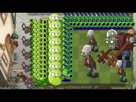 Plants vs Zombies 2 Battlez - Sling Pea, Electric Peashooter vs all Zombies