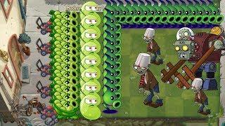 Plants vs Zombies 2 Battlez - Sling Pea, Electric Peashooter vs all Zombies