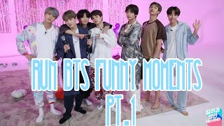 RUN BTS FUNNY MOMENTS PT.1    K-POP PLAYLIST