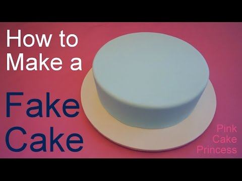 how-to-make-a-fake-cake-or-dummy-cake-/-covering-a-styrofoam-dummy-cake