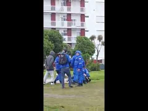 Policía local en acción (Mar del Plata)