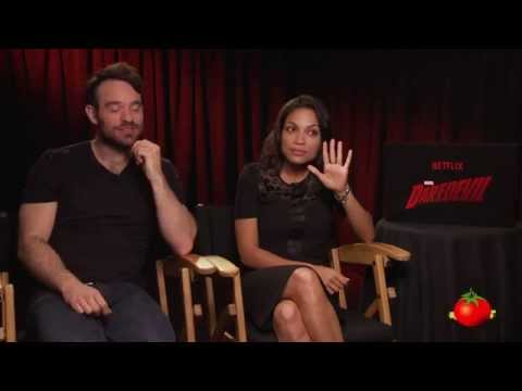 Rosario Dawson & Charlie Cox of Daredevil Take Marvel Universe Quiz