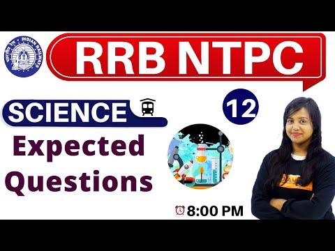 Class-12 ||#RRB NTPC || SCIENCE || By Amrita Ma'am|| Expected Questions