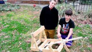 Design & Launching  Our Roman Torsion Catapult / Onager