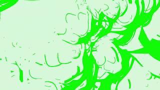 Karikatür Duman Etkisi Bekliyoruz Karikatür Etkisi Ne: [/Yeşil Arka Plan Chroma Key]