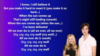 The Girl And The Dreamcatcher - Cry Wolf (lyrics)