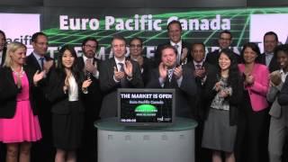 Euro Pacific Canada opens Toronto Stock Exchange, July 17, 2014.