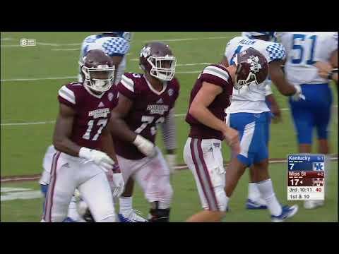 Mississippi State vs Kentucky NCAA Football Highlights 2017