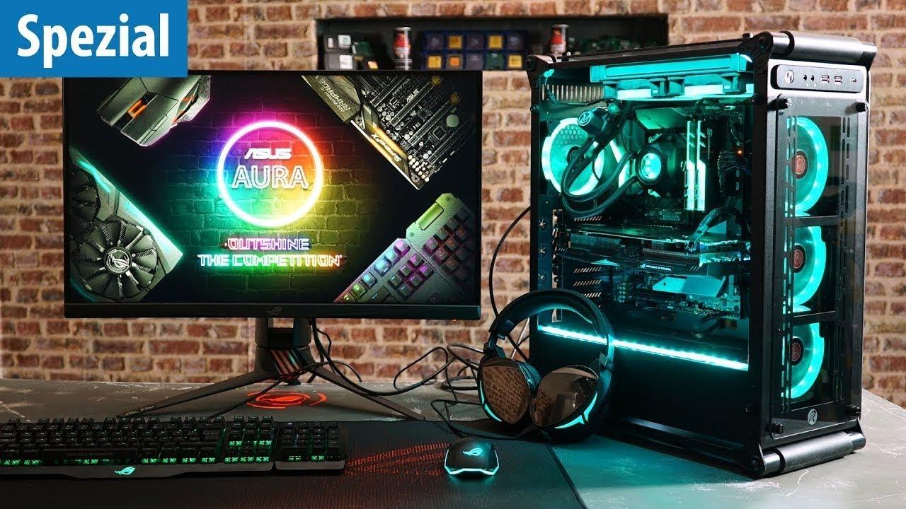 Rgb Gaming Pc So Funktioniert Verkabelung Einrichtung Mit Asus Aura Youtube