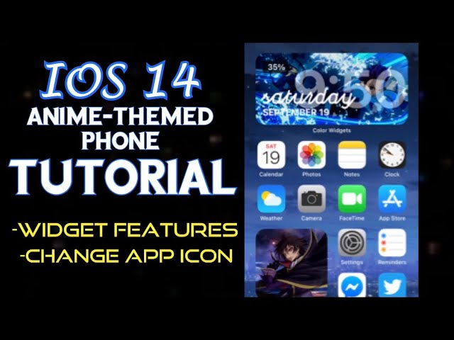 Ios 14 Full Anime Themed Iphone Tutorial How To Change App Icons And Use Widget Feature Tips Youtube