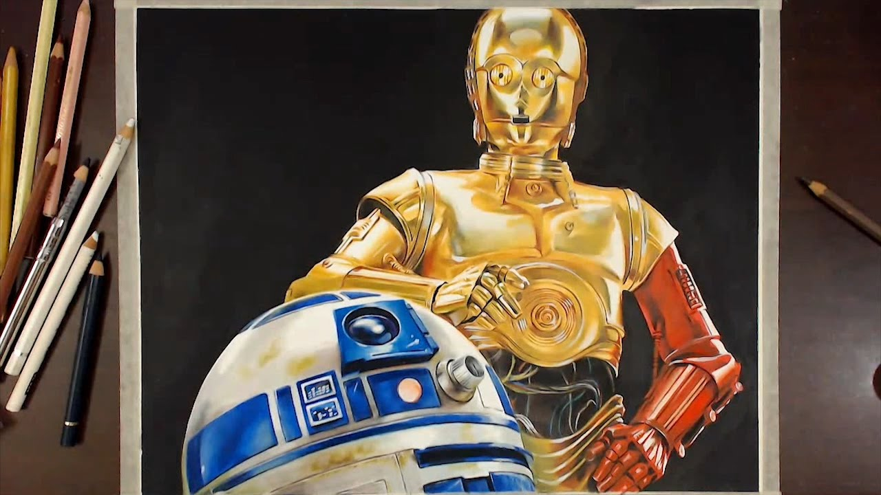 Star Wars : R2D2 & C3P0 스타워즈 - Speed drawing | drawholic ...R2d2 And C3po Drawing
