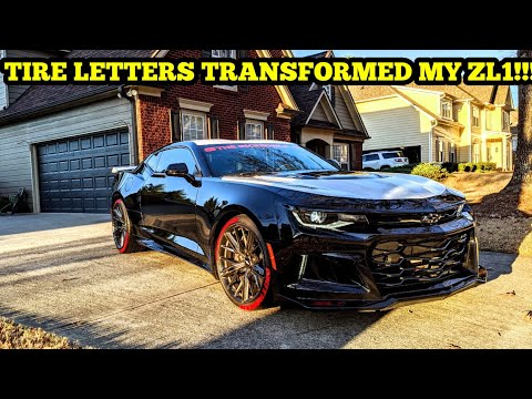 FINALLY PUT THE TIRE LETTERS ON MY ZL1!!! THIS WAS LONG OVER DUE!!