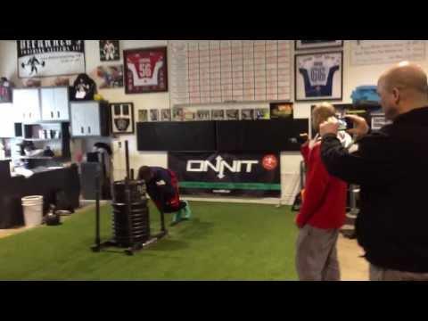 DeFrancosGym.com: 915 pound sled push!!!