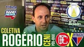 [Série B '18] Coletiva Rogério Ceni   Pós-jogo Oeste FC/SP X Fortaleza EC   TV ARTILHEIR⚽