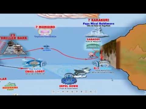 Nouveau Monde One Piece : la nouvelle carte Interactive Shinsekai New World map