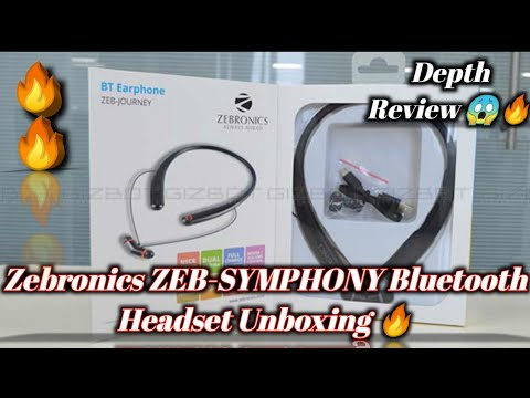Zebronics ZEB-SYMPHONY Neckband earphone with voice assistant and 13 hours battery life // Bluetooth