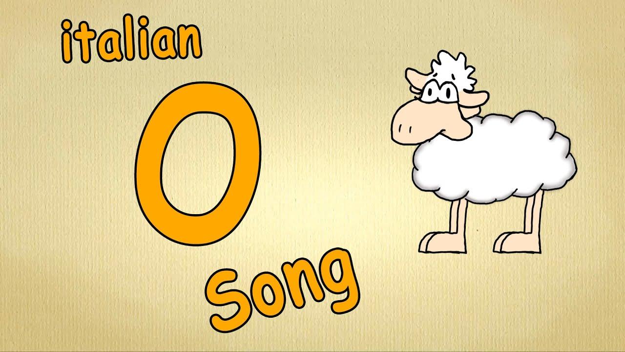alfabeto italiano per bambini canzone la lettera o