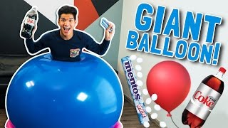 GIANT BALLOON DIET COKE MENTOS EXPERIMENT!