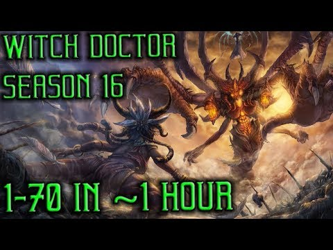 Witch doctor 1-70 in ~1 hour Season 16 in Diablo 3 Reaper of Souls (PC)