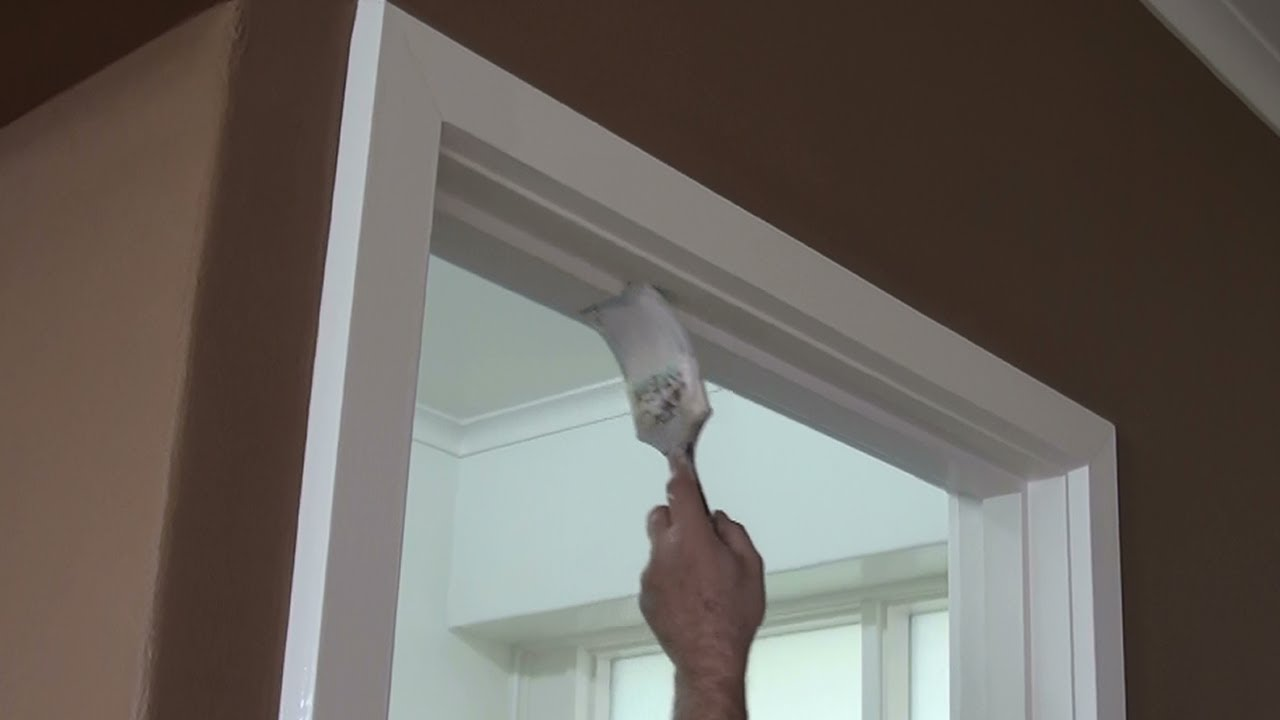 & How to paint a door frame or door jamb - (correct technique) - YouTube