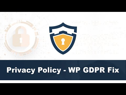 Privacy Policy - WP GDPR Fix. http://bit.ly/2Zq1N9d
