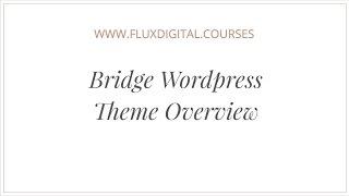 Bridge Wordpress Theme Review