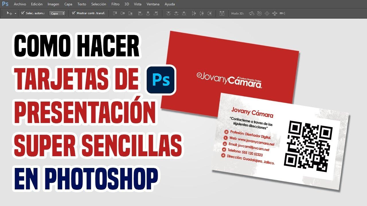 Tarjetas de Presentación Sencillas y Económicas en Photoshop. - YouTube