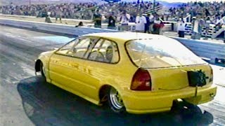 First 9 Second FWD Quarter Mile - Battle of the Imports 1999 - Vintage Import Drag