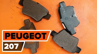 How to replace Brake pad set on PEUGEOT 207 (WA_, WC_) - video tutorial