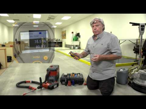 Protimeter MMS2 Flooring Kit | Demonstration of Humidity Testing in Concrete Floors