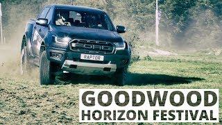 Wyścig Raptora z poduszkowcem i samochody Bonda - byliśmy na Goodwood Horizon Festival