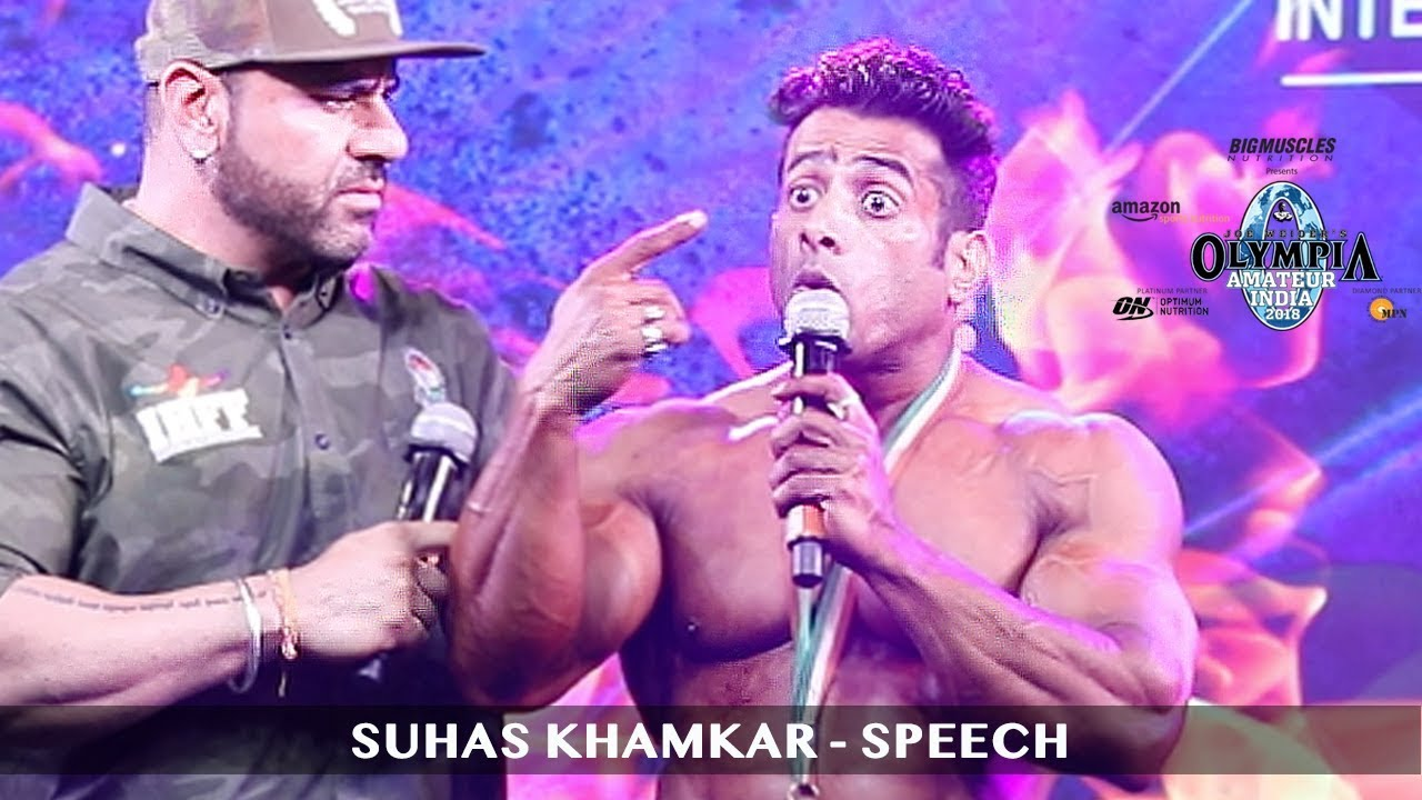 Suhas Khamkar Emotional Speech After Pro Card Victory - Смотреть