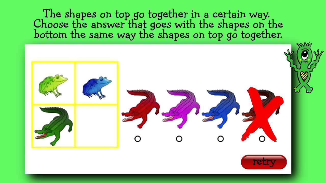 Interactive Practice Question For Olsat Kindergarten Level Youtube