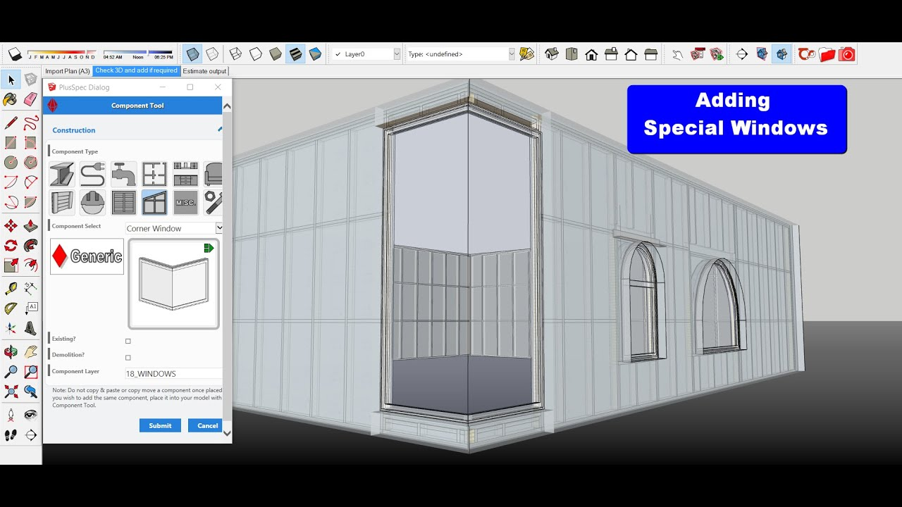 Adding Special Windows In Plusspec Corner Frameless And