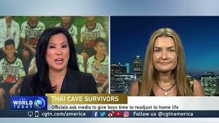Ashley Berges talks about the Thai boys rescued from a flooded cave
