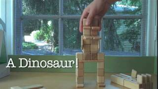 Magnetic Wooden Toys From Tegu - Building A Dinosaur, Soldiers, And A Soccer Player