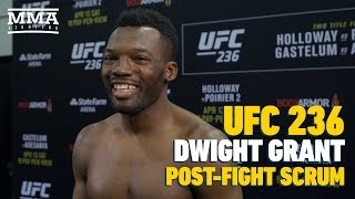 UFC 236: Dwight Grant 'Confused' About Alan Jouban's Upset Reaction To Decision Loss