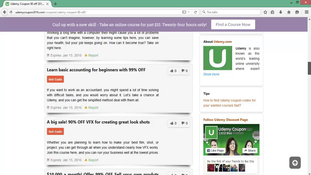 Get discount coupons udemy