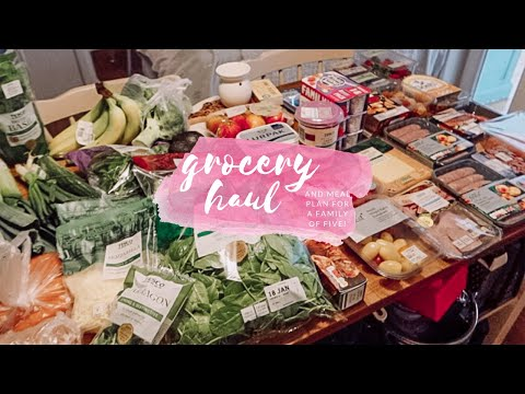 GROCERY HAUL & MEAL PLAN - FAMILY MEAL IDEAS - TESCO GROCERY HAUL