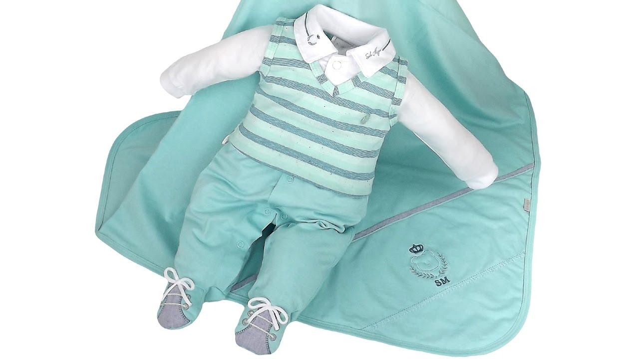 d0a54f87a7b37 Saída de Maternidade Sonho Mágico Azul Aniz Masculino Príncipe - YouTube