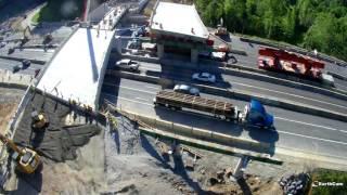 SR 299 Accelerated Bridge Construction Time Lapse