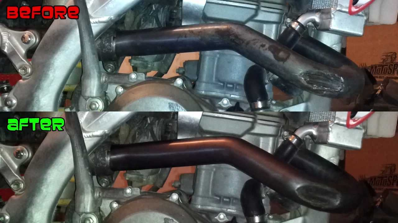 How To Clean Head Pipe Of Burnt Rubber Plastic And Other