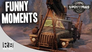 Spin Tires Funny Moments - AWESOME PHYSICS!! (Spintires Gameplay)
