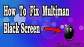 How to fix black screen when launching games in multiman - YouTube
