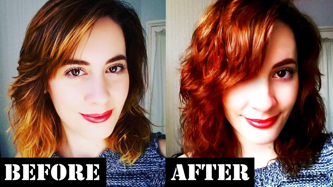 How I Color My Hair At Home | Light Copper Brown - YouTube