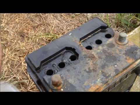 Car Battery Repair After Sitting 10 Years: How To Basic Home Products !!!